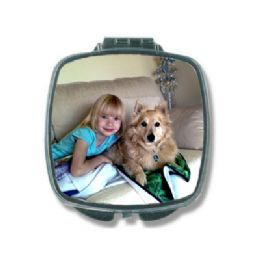 Personalised Photo Compact Mirror, Photo Makeup Mirror, Photo compact makeup mirror, Silver Photo Compact Mirror